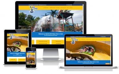 Νέο web site για το πάρκο της AQUALAND από το KERKYRA.net