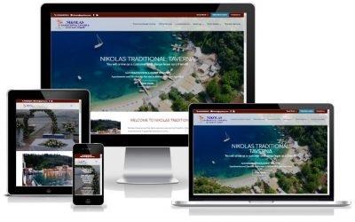To KERKYRA.net υλοποίησε την κατασκευή web site για το Nikolas Traditional Taverna στην Αγνή