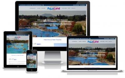 To KERKYRA.net υλοποίησε την κατασκευή web site για το AQUALAND Resort