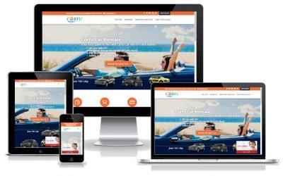 Το KERKYRA.net υλοποίησε την κατασκευή web site για το Corfu-Car-Rentals.com