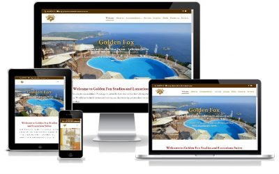 Νέο web site για το Golden Fox Studios & Luxurious Suites από την SMARTERweb