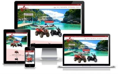 """Νέο web site """"Paleokastritsa Bike Rentals"""" από την SMARTERweb"""
